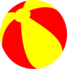 Strandball Beachball Ball Bright Red And Yellow Image